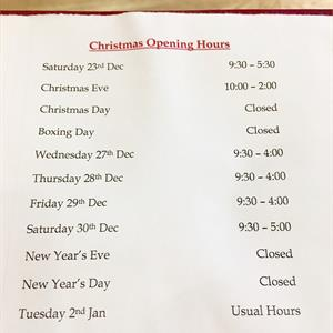 Christmas Open Times