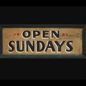 Open Sundays!